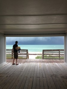 Bahia Honda, paradis på jord. Eller grusom strand med for mye sjøgress, alt etter hvem som ser. Bilde tatt da vi var der i juni 2012.